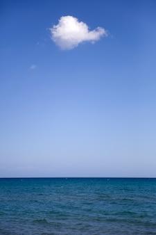 Niebieski horyzont morski
