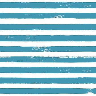 Niebieski i biały streszczenie ręcznie rysowane paski wzór bez szwu seamless