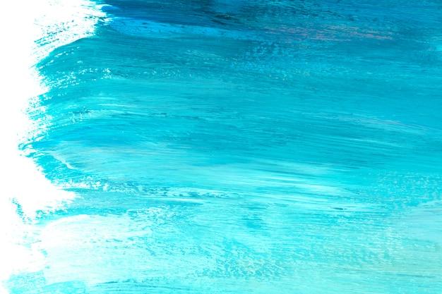Niebieski i turkusowy pędzla udar teksturowanej tło