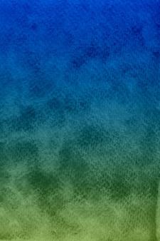 Niebieski i zielony ocean akwarela tekstury papieru tło