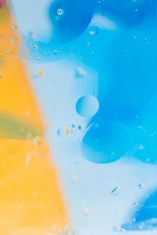 Niebieski i żółty bąbelek teksturowanej tło