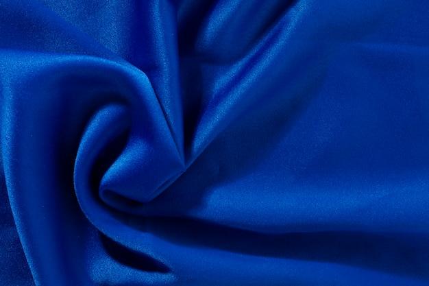 Niebieski jedwab, tkanina tekstura tło
