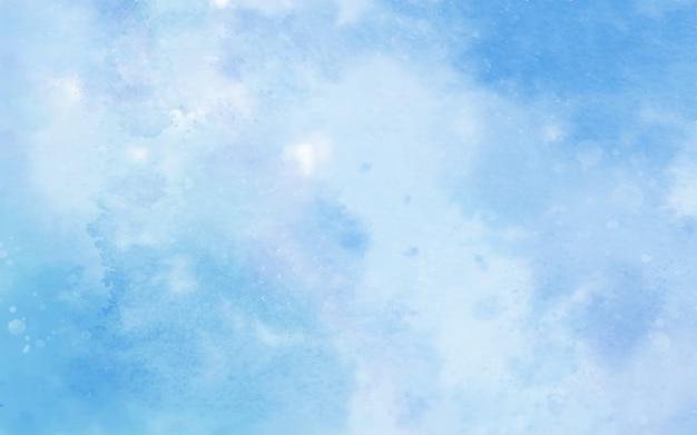 Niebieski kolor tła akwarela
