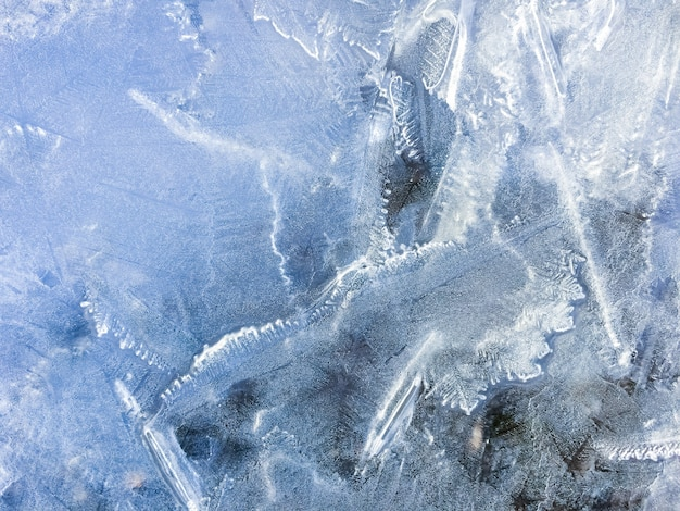 Niebieski mrożonej wody lód tekstury tła