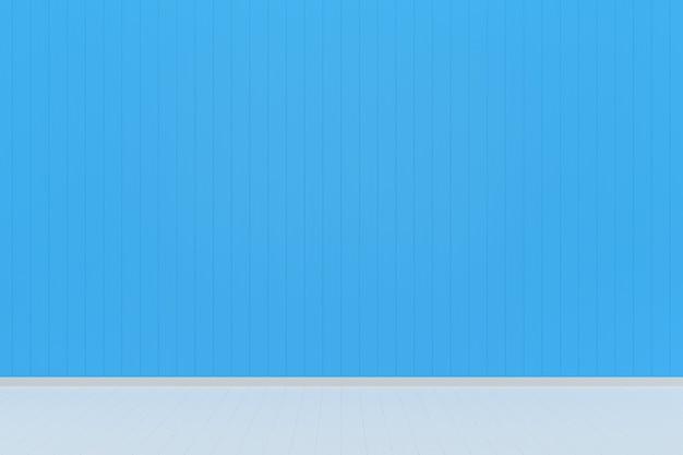 Niebieski pastelowy ściana biały drewno podłogi tło tekstura kolor wypełnienia
