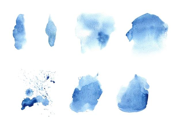 Niebieski plama plama w tle akwarela