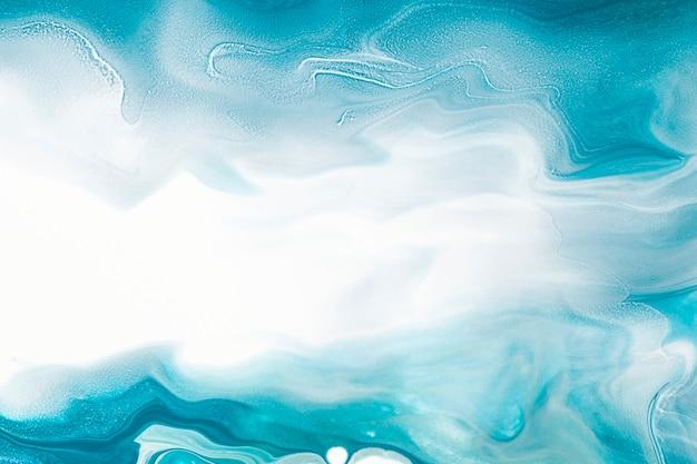 Niebieski płynny marmur tło diy płynna tekstura sztuka eksperymentalna