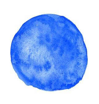 Niebieski rozchlapać akwarela koło tło na białym tle