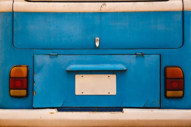 Niebieski stary tło bagażnika samochodu