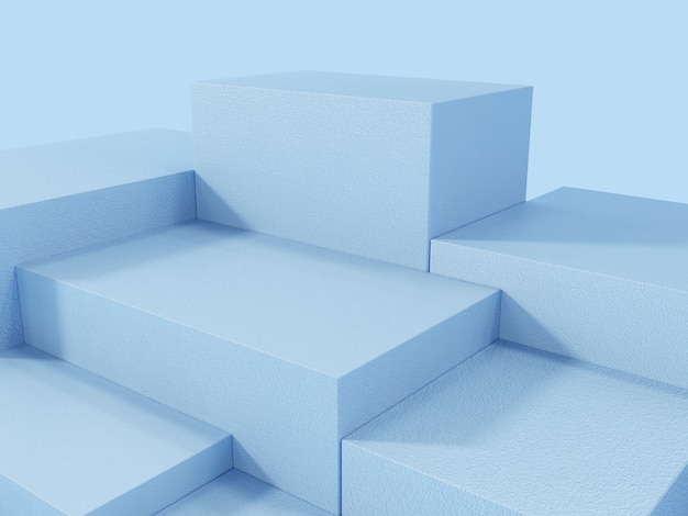 Niebieski wyświetlacz produktu podium, abstrakcyjne tło