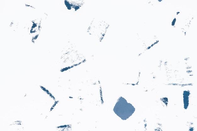 Niebieski wzór tła z nadrukiem blokowym z plamami z tkaniny