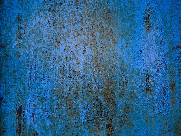 Niebieski zardzewiały metal tekstura tło.