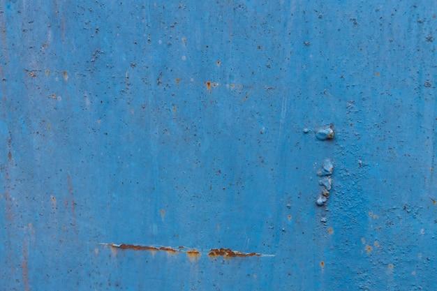Niebieski zardzewiały metal tekstury. streszczenie tło grunge