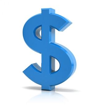 Niebieski znak dolara