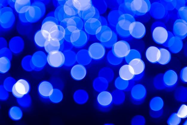 Niebieskie abstrakcyjne światła bańki