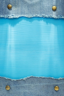 Niebieskie dżinsy tekstura na podłoże drewniane