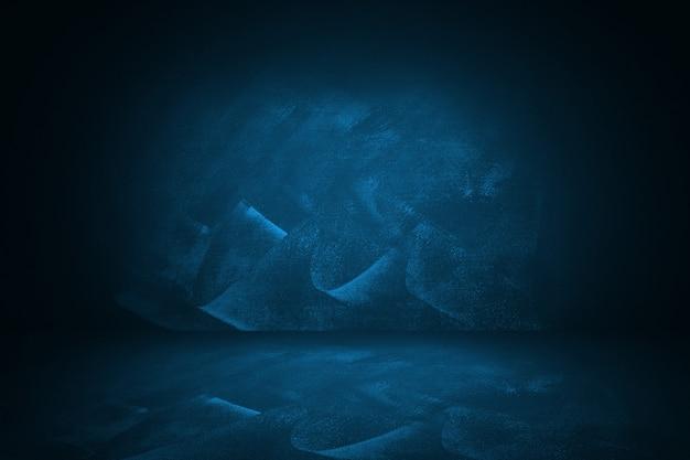 Niebieskie i ciemne studio gradientowe i tło wewnętrzne do prezentacji produktu