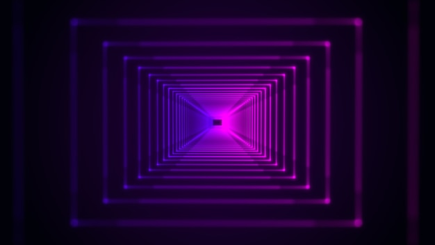 Niebieskie i fioletowe neonowe światło widma futurystyczny hi-tech abstrakcyjne tło