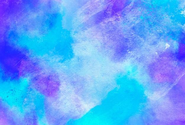 Niebieskie i fioletowe tło akwarela