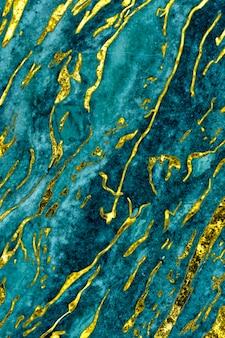 Niebieskie i złote marmurowe tło z teksturą