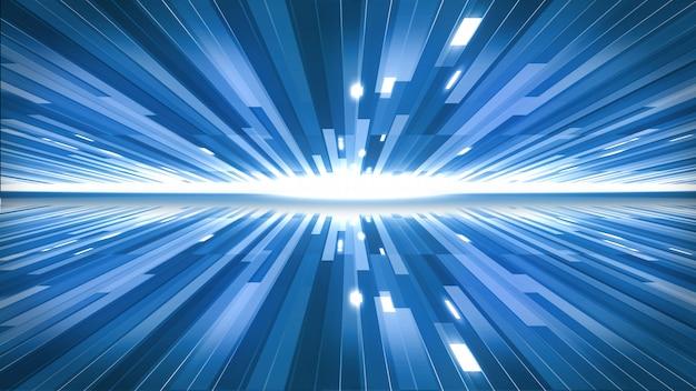 Niebieskie linie w technologii pojęcia tle.