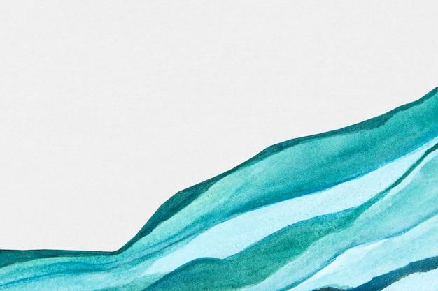 Niebieskie obramowanie akwarela streszczenie styl