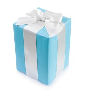 Niebieskie pudełko upominkowe