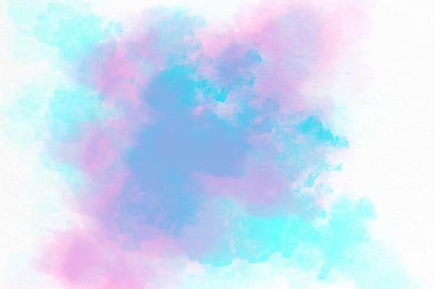 Niebieskie różowe akwarela akrylowe ręcznie rysowane tła
