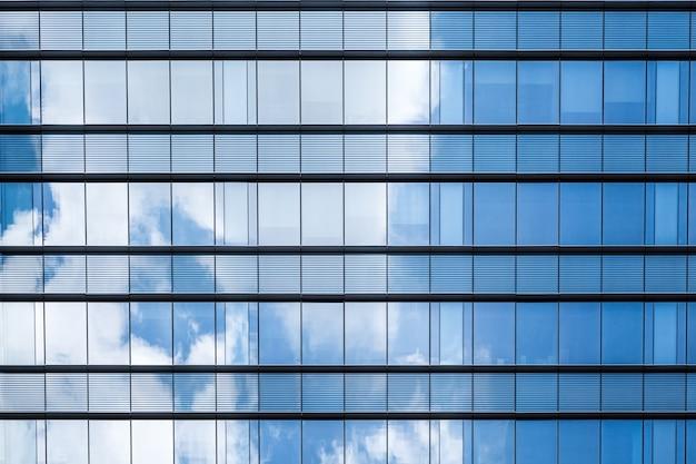 Niebieskie szkło abstrakcyjne tło odbicia