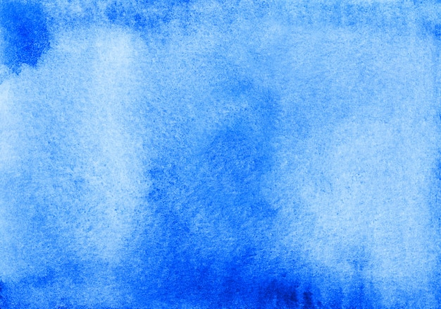 Niebieskie tło akwarela brudne tekstury