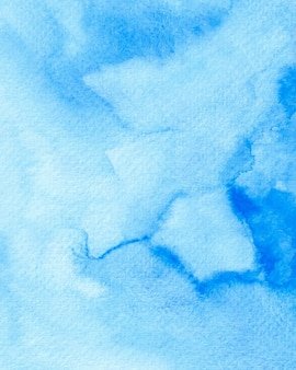 Niebieskie tło akwarela, niebieski papier cyfrowy, tekstura akwareli