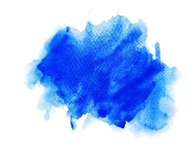 Niebieskie tło akwarela plamy.