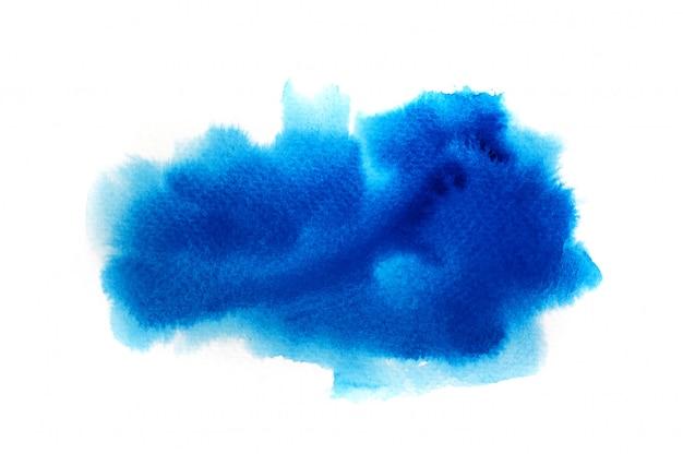 Niebieskie tło akwarela.