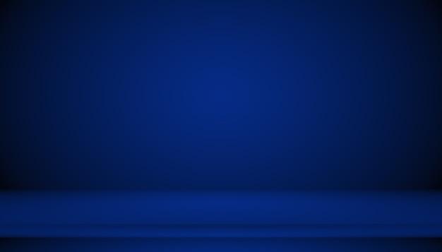 Niebieskie tło gradientowe streszczenie pusty pokój z miejscem na tekst i obraz.