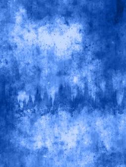 Niebieskie tło grunge z zadrapaniami i plamami
