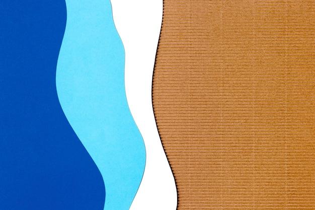 Niebieskie tło kształtu papieru