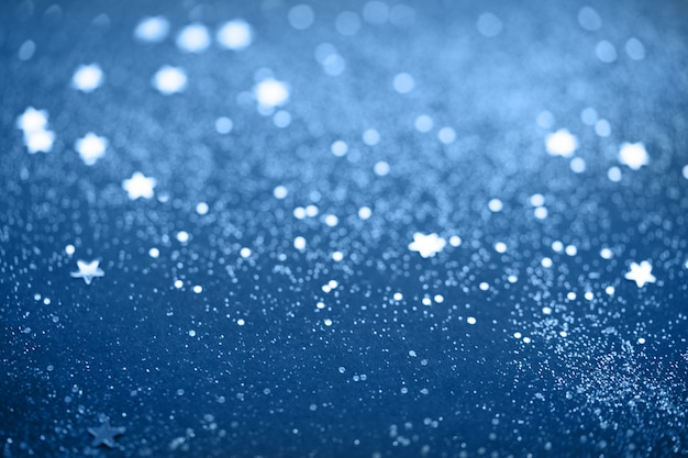 Niebieskie tło musujące brokat
