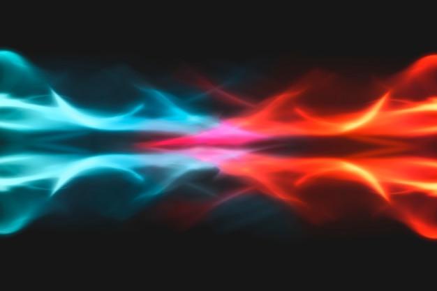 Niebieskie tło płomienia, fantastyczny neonowy obraz ognia