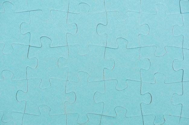 Niebieskie tło puzzli widok z góry
