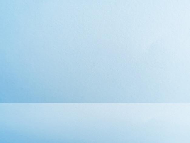 Niebieskie tło ściany studio tekstury papieru
