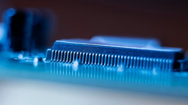 Niebieskie tło technologii przedmiotu