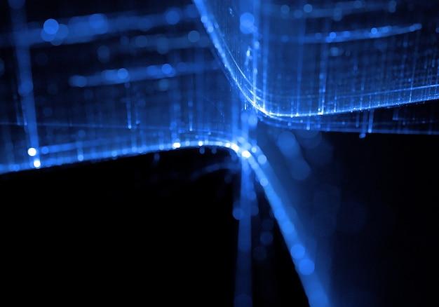 Niebieskie tło technologii