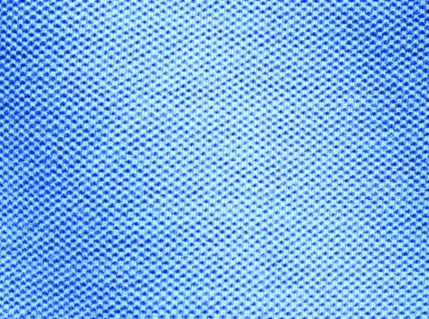 Niebieskie tło tekstury włókien tkaniny