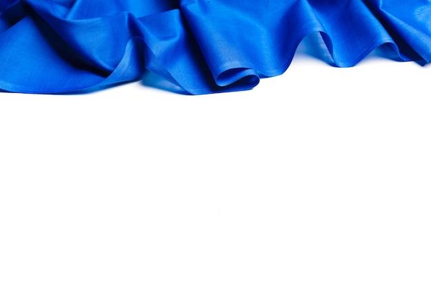 Niebieskie tło tkaniny jedwabne