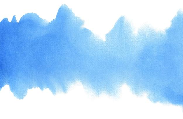 Niebieskie turkusowe turkusowe abstrakcyjne tło akwarelowe dla tekstur tła i projektowanie banerów internetowych