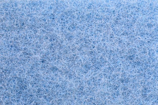 Niebieskie włókna plastikowe tekstury tła.