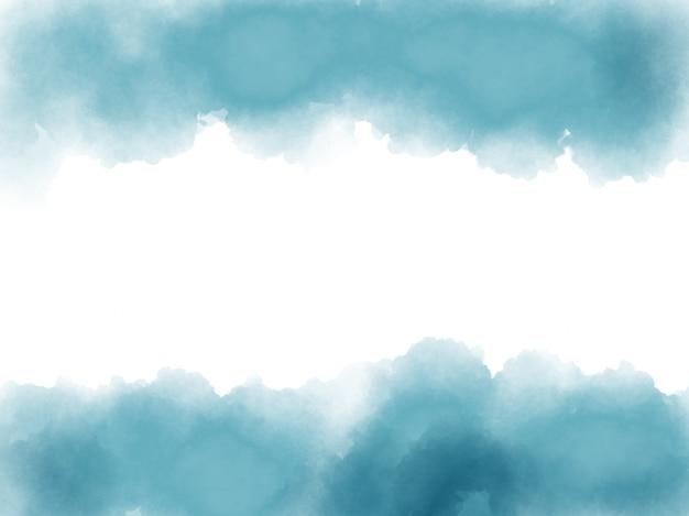 Niebieskim tle akwarela