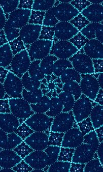 Niebiesko-niebieski krawat barwnik granicy tła krawędzi. pomalowany akwarelą pasek boczny. boho nowoczesny abstrakcyjny element projektu sieci web, przegroda lub ozdobny atrament tło dla telefonu komórkowego.
