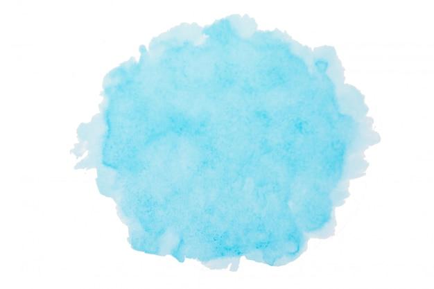 Niebo niebieskie tło akwarela. szczotkarski uderzenie kształt odizolowywający na bielu z ścinek ścieżką