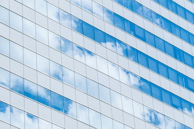 Niebo nowoczesny houston szklaną fasadą